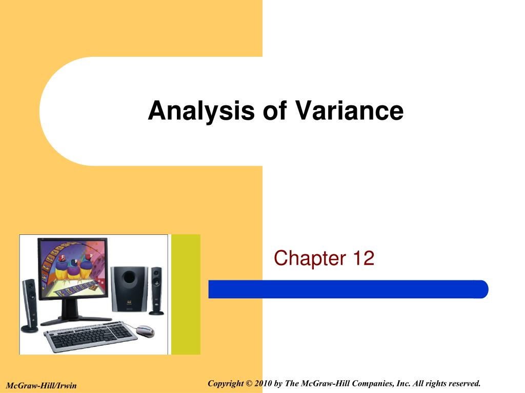 analysis of variance l.