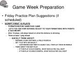 game week preparation40