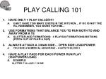 play calling 101