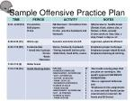 sample offensive practice plan