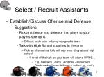 select recruit assistants9