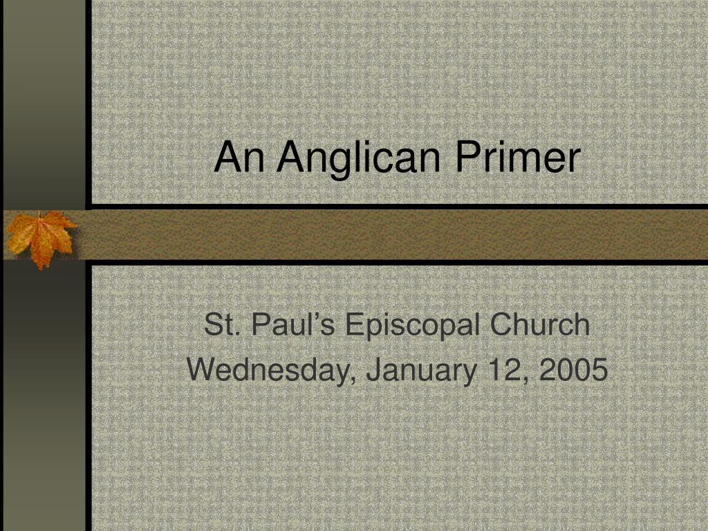 an anglican primer l.