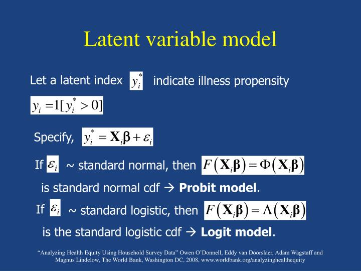 Latent variable model