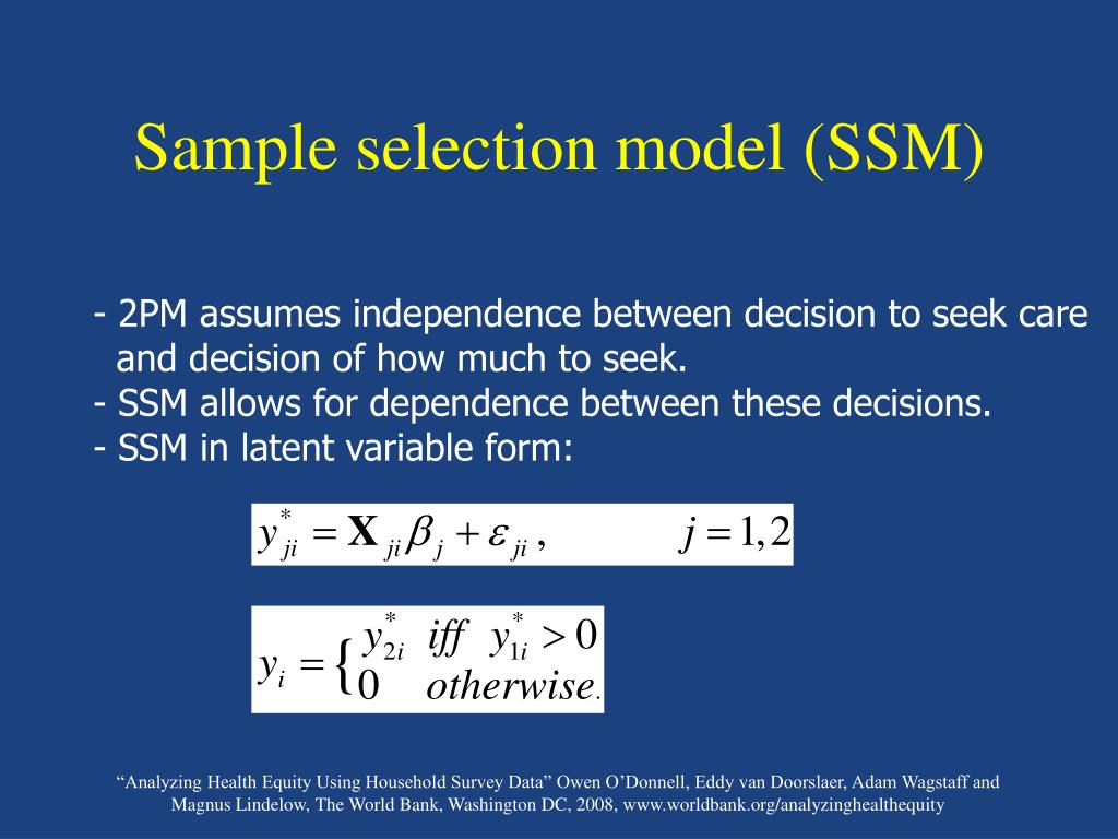 Sample selection model (SSM)