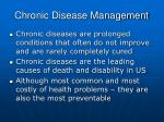 chronic disease management