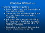 decisional balance cont79