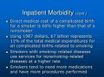 inpatient morbidity cont