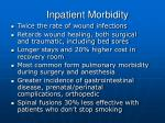 inpatient morbidity