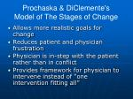 prochaska diclemente s model of the stages of change