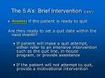 the 5 a s brief intervention cont61