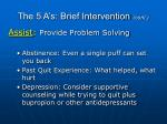 the 5 a s brief intervention cont63