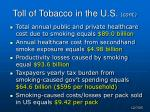 toll of tobacco in the u s cont
