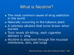 what is nicotine