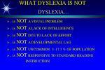 what dyslexia is not dyslexia