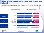 level of information about safety and health risks at work2