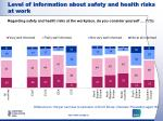 level of information about safety and health risks at work4