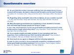questionnaire overview