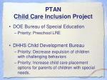 ptan child care inclusion project