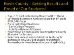 boyle county getting results and proud of our students