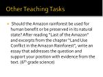 other teaching tasks