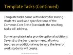 template tasks continued