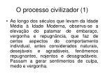 o processo civilizador 1