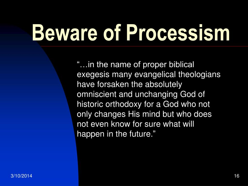 Beware of Processism