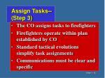assign tasks step 3
