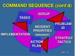 command sequence cont d4