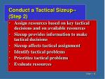 conduct a tactical sizeup step 2