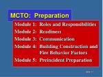 mcto preparation