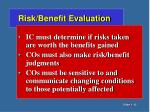 risk benefit evaluation1