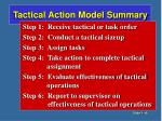 tactical action model summary