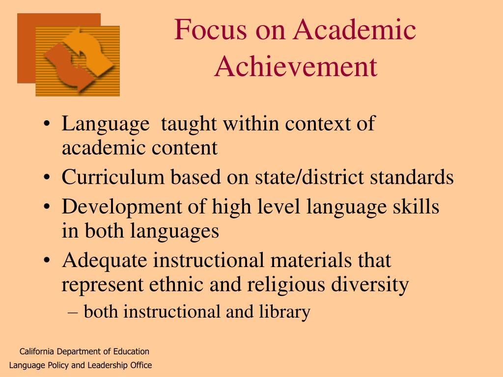 Focus on Academic Achievement