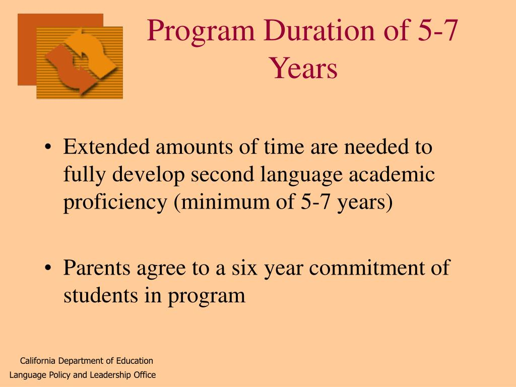Program Duration of 5-7 Years