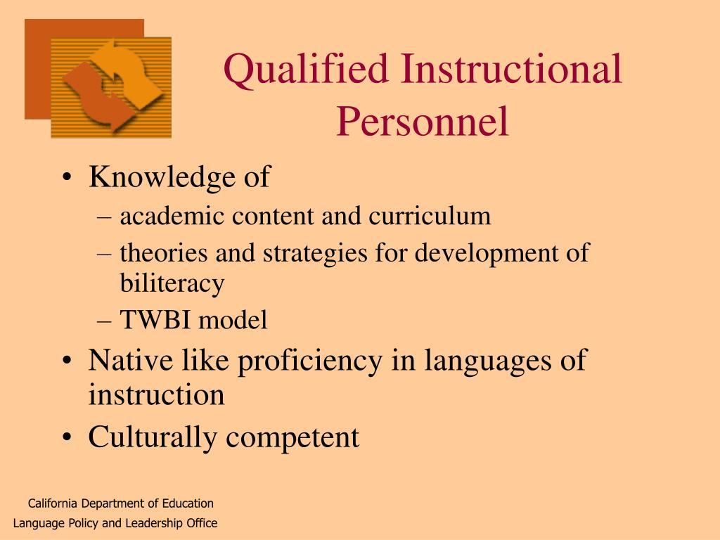 Qualified Instructional Personnel