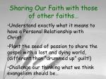 sharing our faith with those of other faiths4