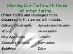sharing our faith with those of other faiths6