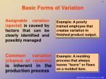 basic forms of variation
