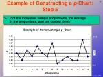 example of constructing a p chart step 5