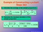 example of constructing a p chart steps 2 3