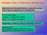 example step 3 determine sample size