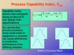 process capability index c pk
