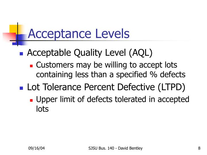 lot tolerance percent defective
