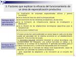 3 factores que explican la eficacia del funcionamiento de un rea de especializaci n productiva1