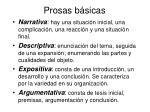 prosas b sicas