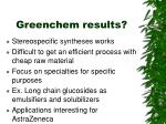 greenchem results