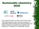 sustainable chemistry 2030