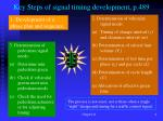 key steps of signal timing development p 489