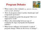 program debates
